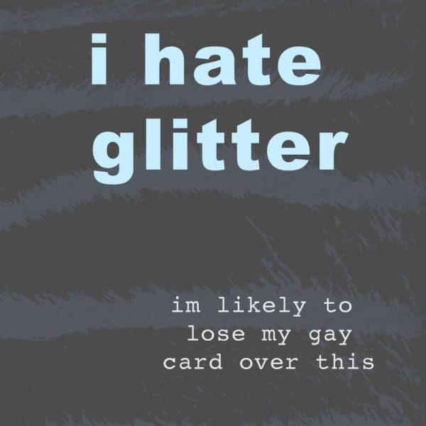 i hate glitter image